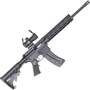 "S&W M&P 15-22 Sport .22 LR Semi-Auto Rifle 16.5"" Barrel 25 Rounds MP100 4 MOA Optic M-LOK Handguard Black"