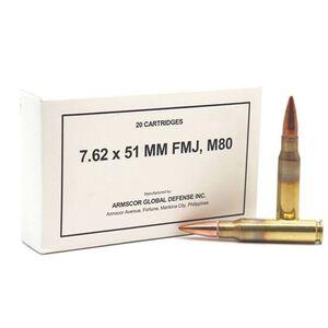 Armscor .308/7.62x51 NATO M80 Ball FMJ 20 Round Box