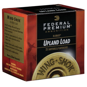 """Federal Wing Shok High Velocity Upland Load 28 Gauge Ammunition 2-3/4"""" #6 Copper Plated Lead Shot 3/4 Ounce 1295 fps"""