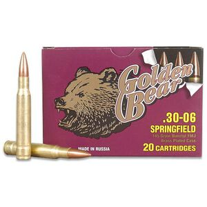 Golden Bear .30-06 Springfield Ammunition 20 Rounds FMJ 145 Grains AG30FMJ