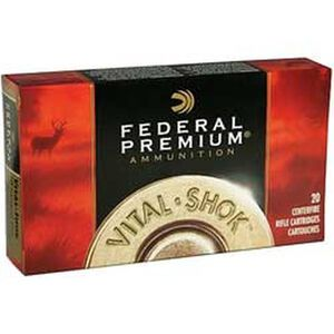 Ammo .25-06 Remington Federal Vital-Shok Barnes TSX Lead Free 100 Grain 20 Round Box 3210 fps P2506H