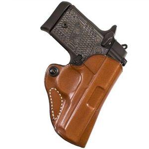 DeSantis Mini Scabbard Belt Holster For GLOCK 43 Right Hand Leather Tan 019TA8BZ0