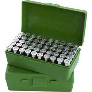 MTM Case-Gard P-50 Original Series Flip Top Handgun Ammo Box 9mm/ .380 ACP 50 Round Capacity Polymer Green P50-9M-10