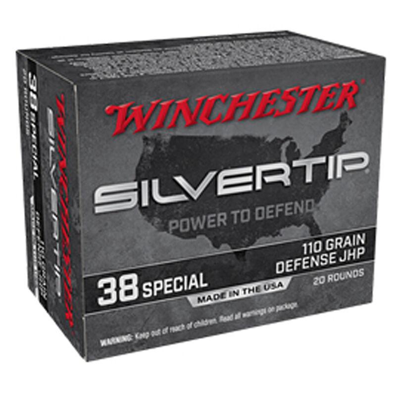 Winchester Silvertip .38 Special Ammunition 110 Grain Silvertip JHP 20 Rounds 945 fps
