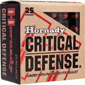 Hornady Critical Defense .25 ACP Ammunition 25 Rounds 35 Grain FTX 900 fps