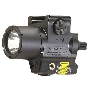 Streamlight TLR-4 Compact Handgun LED Light and Laser Combo 110 Lumens Rail Mount Polymer Black