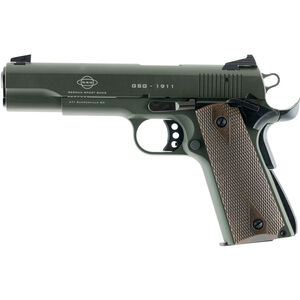 "American Tactical Imports GSG 1911 Semi Automatic Pistol 22 LR 5"" Barrel 10 Rounds Alloy Frame OD Green"