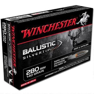 Winchester Silvertip .280 Rem Ammunition 200 Rounds, BST, 140 Grains