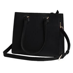 Tactica Defense Fashion Compact Conceal Carry Handbag Purse Shoulder Bag Ambidextrous Saffiano Polyurethane Brown