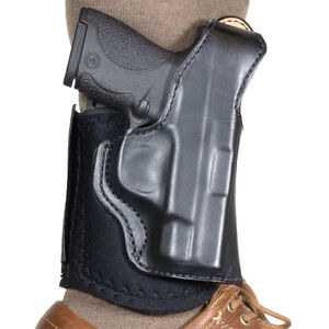 DeSantis Die Hard Leather Ankle Holster fits SIG Sauer P938 Right Hand Leather Black