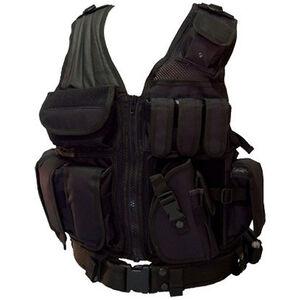 Red Rock Outdoor Gear Crossdraw Tactical Vest Nylon One Size Black 520BLK
