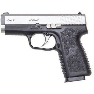 """Kahr Arms CW9 9mm Luger Semi Auto Pistol 3.6"""" Barrel 7 Rounds Night Sights Polymer Frame Duo Tone Stainless/Black"""