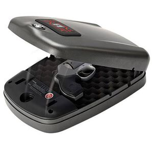 """Hornady RAPiD Safe 2600KP L 3"""" Semi Auto or 2"""" Revolvers Heavy Duty Tamper Proof Mobile Security Matte Black"""