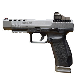 "Century Arms Canik TP9SFX Semi Auto Pistol 9mm Luger 5.2"" Barrel 20 Rounds Fiber Optic Front Sight Vortex Viper Red Dot Interchangeable Grips Black Polymer Frame Tungsten Gray Slide Finish"