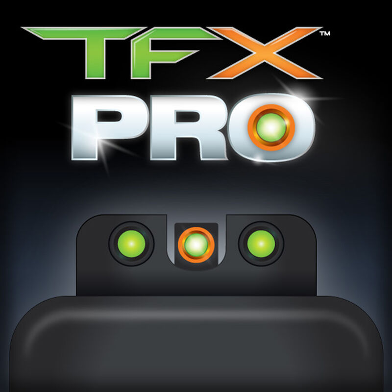 TRUGLO TFX Pro Kahr K/M/P/PM/T/TP Models Front and Rear Set Green TFO Night Sights Orange Ring Steel Black TG13KA1PC
