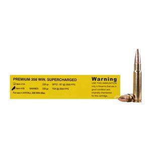 Buffalo Bore .358 Win Ammunition 20 Rounds, 225 Grain Barnes TSX Lead Free Bullet, 2500 fps