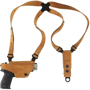 """Galco Classic Lite Shoulder Holster System 1911 Style Firearms with 3"""" up to 5"""" Barrels Left Hand Draw Leather Natural Finish"""