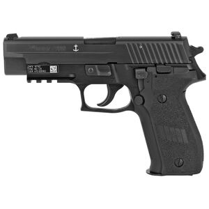 "SIG Sauer P226 MK25 Full Size 9mm Luger Semi Auto Pistol 4.4"" Barrel 10 Rounds Combat Sights M1913 Rail Alloy Frame Matte Black Finish"