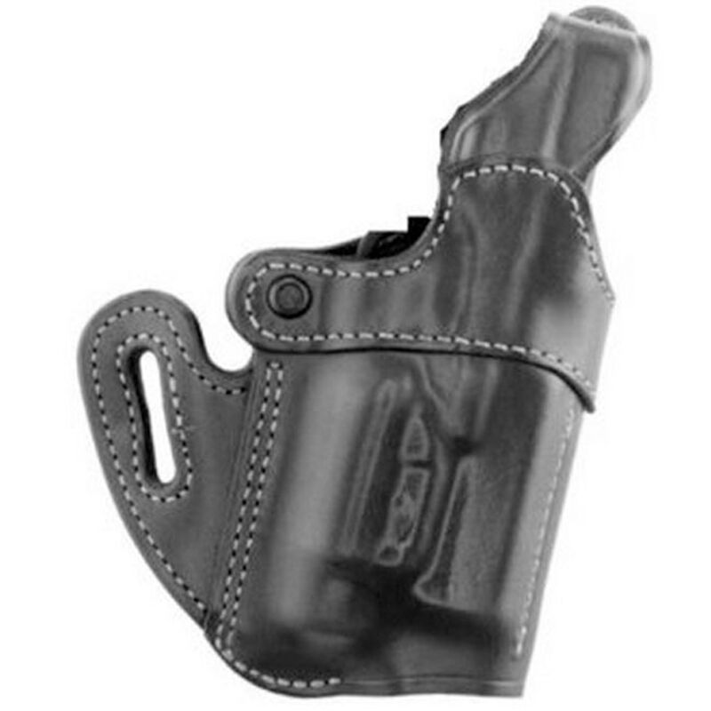 Aker Leather 167 Nightguard GLOCK 17/22 with SureFire X200/X300 Belt Holster Right Hand Leather Plain Black