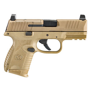 "FNH FN-509 Compact MRD 9mm Luger Semi Auto Pistol 3.7"" Barrel 15 Rounds Optics Ready No Manual Safety Ambidextrous Controls Polymer Frame Flat Dark Earth"