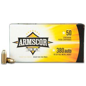 Armscor USA .380 ACP Ammunition 95 Grain Full Metal Jacket