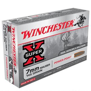 Winchester Super X 7mm Mauser Ammunition 20 Rounds JSP 145 Grains X7MM1