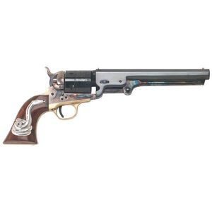 "Cimarron ""Man with No Name"" Single Action Revolver .38 Special/.38 Colt 7.5"" Barrel 6 Rounds Walnut Grip with Rattlesnake Inlay Blue Finish CA9081SSI01"