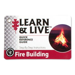 Ultimate Survival Technologies Learn & Live Fire Building Card Set 20-80-103