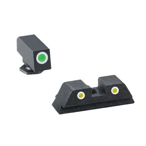 AmeriGlo Classic Style Glock Gen 5 Night Sights Green Front Yellow Rear