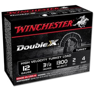 "Winchester Double X 12 Ga 3.5"" #4 Lead 2oz 10 Rounds"