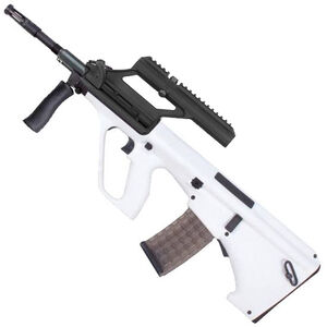 "Steyr AUG A3 M1 Semi Auto Rifle .223 Rem/5.56 NATO 16"" Chrome Lined Barrel 30 Round AUG Pattern Magazine with 1.5X Optic White Finish AUGM1WHIO"