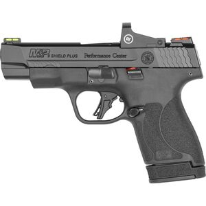 "S&W Performance Center M&P 9 Shield Plus Crimson Trace 9mm Semi-Auto Pistol 4"" Barrel 13 Rounds Red Dot Black"