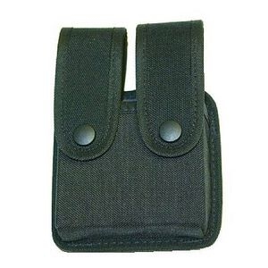 Uncle Mike's Fitted Double Magazine Pouch Double Stack Cordura Black 88361