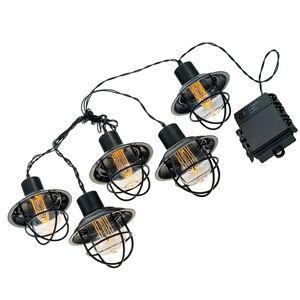 LitezAll LED Edison Bulb 5 Piece String Lights AA Batteries