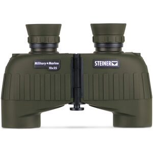 Steiner Military/Marine MM1025 Binoculars 10x25mm Mini-Porro Floating Prism System Makrolon Housing NBR Rubber Armor OD Green