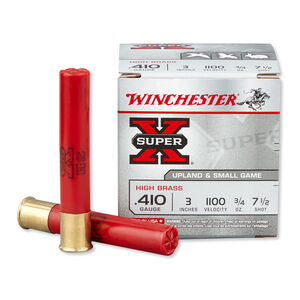 """Winchester Super X Game .410 Bore Ammunition 25 Rounds 3"""" #7 Lead 0.75 Ounce X413H7"""