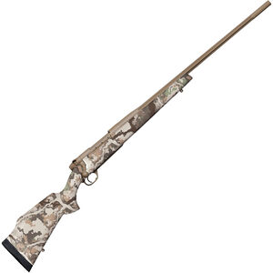 """Weatherby Mark V First Lite .257 Wby Mag Bolt Action Rifle 26"""" Barrel 3 Rounds First Lite Fusion Camo Synthetic Stock FDE Cerakote Finish"""