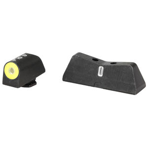 XS Sights DXT2 Big Dot Night Sights GLOCK Models Green Tritium Front With Yellow Ring/Tritium Stripe Rear Matte Black