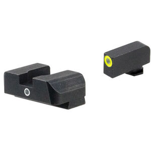 Ameriglo Sight Set for GLOCK Green Tritium Front Dot with LumiGreen Outline and Green Rear Single-Dot