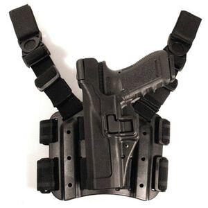 BLACKHAWK! SERPA Beretta 92, 96 Level 3 Tactical Holster Left Hand Polymer Black 430604BK-L