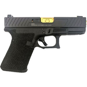 "Shadow Systems SG9C 9mm Luger Semi-Auto Handgun 4.01"" TiN Barrel No Magazine Stippled Frame Enhanced Slide Front Night Sight Black"