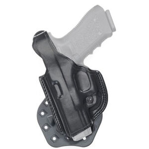 Aker Leather 268 FlatSider Thumbreak XR17 GLOCK 19/23 Paddle Holster Left Hand Leather Black