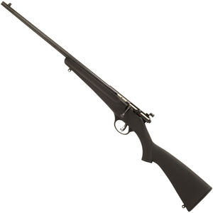"Savage Rascal Synthetic Left Handed .22 LR Single Shot Bolt Action Rimfire Rifle 16.125"" Barrel 1 Round Peep Sights Black Synthetic Stock Blued Finish"