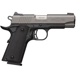"Browning Black Label Pro Tungsten 1911-380 Semi-Auto Pistol .380 ACP 4.25"" Barrel 8 Rounds Composite Grips Tungsten/Black Finish"