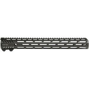 """Adams Arms AR-15 P Series M-LOK Rail 15.5"""" Free Float Handguard with Barrel Nut Full Length Picatinny Top Rail Aluminum Black"""