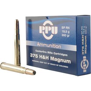 Prvi Partizan PPU Standard .375 H&H Mag Ammunition 10 Rounds 300 Grain SPRN 2460fps