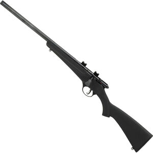 "Savage Rascal FV-SR Left Handed .22 LR Single Shot Bolt Action Rimfire Rifle 16.125"" Heavy Threaded Barrel 1 Round Black Synthetic Stock Blued Finish"