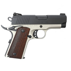 "EAA GiRSAN MC1911SC Officer Model .45 ACP Semi Auto Pistol 3.4"" Barrel 6 Rounds Adjustable Rear Sight Ambidextrous Safety Two Tone Finish"