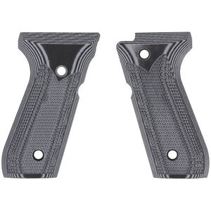 Pachmayr Dominator Beretta 92FS G10 Grips Fine Checkered Gray/Black