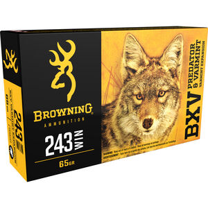 Browning BXV .243 Winchester Ammunition 200 Rounds BXV 65 Grains B192302431